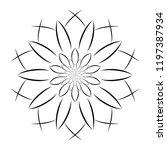 mandala flower decoration... | Shutterstock .eps vector #1197387934