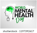 world mental health day design... | Shutterstock .eps vector #1197392617
