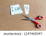 cutting the word in paper note... | Shutterstock . vector #1197405397