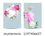 a picturesque peony flower....   Shutterstock .eps vector #1197406657