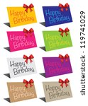 a set of standing birthday card ... | Shutterstock .eps vector #119741029