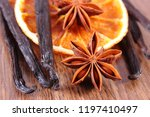 closeup of star anise  dried... | Shutterstock . vector #1197410497