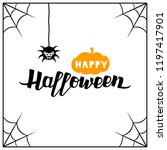 halloween card with lettering... | Shutterstock .eps vector #1197417901