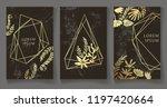 set of dark black and gold... | Shutterstock .eps vector #1197420664