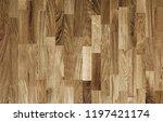 fragment of parquet floor.  | Shutterstock . vector #1197421174