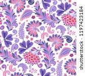 seamless pattern with fantasy...   Shutterstock .eps vector #1197423184