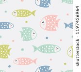 childish seamless pattern with... | Shutterstock .eps vector #1197426964