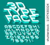 3d alphabet font. three... | Shutterstock .eps vector #1197430324