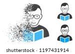 reader student icon with face... | Shutterstock .eps vector #1197431914