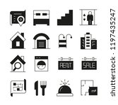 real estate icons | Shutterstock .eps vector #1197435247