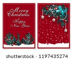 merry christmas and happy new... | Shutterstock .eps vector #1197435274