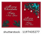 merry christmas and happy new... | Shutterstock .eps vector #1197435277