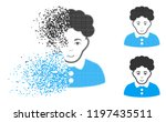 brunette woman icon with face... | Shutterstock .eps vector #1197435511