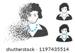 brunette lady icon with face in ... | Shutterstock .eps vector #1197435514
