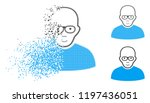 bald man icon with face in... | Shutterstock .eps vector #1197436051