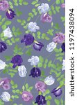 seamless pattern of butterfly... | Shutterstock .eps vector #1197438094