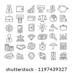 finance line icons | Shutterstock .eps vector #1197439327