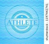 athlete sky blue water wave...   Shutterstock .eps vector #1197442741