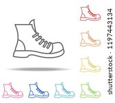 boot icon. elements of camping... | Shutterstock .eps vector #1197443134