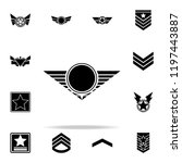 star of a military pilot icon.... | Shutterstock .eps vector #1197443887