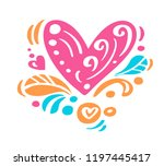 vintage hand drawing... | Shutterstock .eps vector #1197445417