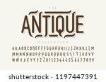 Antique Style Font Design ...
