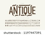 antique style font design ... | Shutterstock .eps vector #1197447391