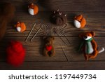 toy bear cub with heart made of ... | Shutterstock . vector #1197449734