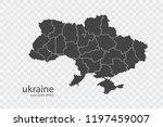 ukraine map vector  isolated on ... | Shutterstock .eps vector #1197459007