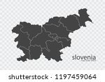 slovenia map vector  isolated... | Shutterstock .eps vector #1197459064