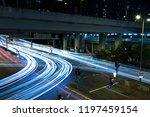 light trails of night traffic... | Shutterstock . vector #1197459154