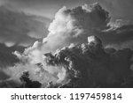 dramatic cloudscape in sky... | Shutterstock . vector #1197459814