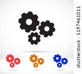 vector icon gear mechanism 10... | Shutterstock .eps vector #1197461011