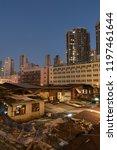 hong kong city at night | Shutterstock . vector #1197461644