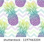 pineapple seamless pattern ... | Shutterstock .eps vector #1197463204