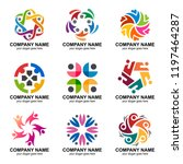 people group and community logo ... | Shutterstock .eps vector #1197464287