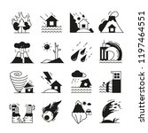 natural disaster icons | Shutterstock .eps vector #1197464551