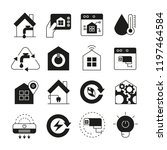 smart home icons set | Shutterstock .eps vector #1197464584