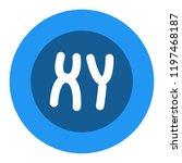chromosomes vector icon | Shutterstock .eps vector #1197468187