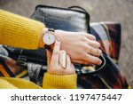street style fashion details.... | Shutterstock . vector #1197475447