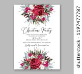 peony christmas party... | Shutterstock .eps vector #1197477787