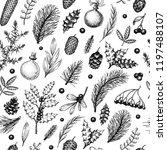 christmas seamless pattern in... | Shutterstock .eps vector #1197488107