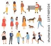 vector set of different cartoon ... | Shutterstock .eps vector #1197489334