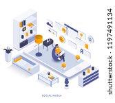 modern flat design isometric... | Shutterstock .eps vector #1197491134