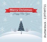 christmas greeting card | Shutterstock .eps vector #119749711