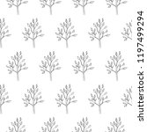 simple tree seamless pattern... | Shutterstock .eps vector #1197499294