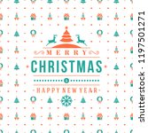merry christmas and happy new... | Shutterstock .eps vector #1197501271