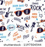 rock music theme vector... | Shutterstock .eps vector #1197504544