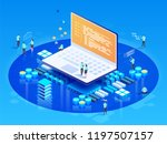 software  web development ... | Shutterstock .eps vector #1197507157