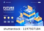 technology isometric concept.... | Shutterstock .eps vector #1197507184